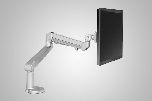 Single Monitor Arm Silver MultiTable