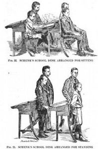 standing desks from long ago