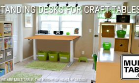 Standing Desks As Adjustable Craft Tables And Hobby Benches MultiTable