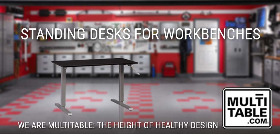 A Standing Desk For A Garage Workbench MultiTable