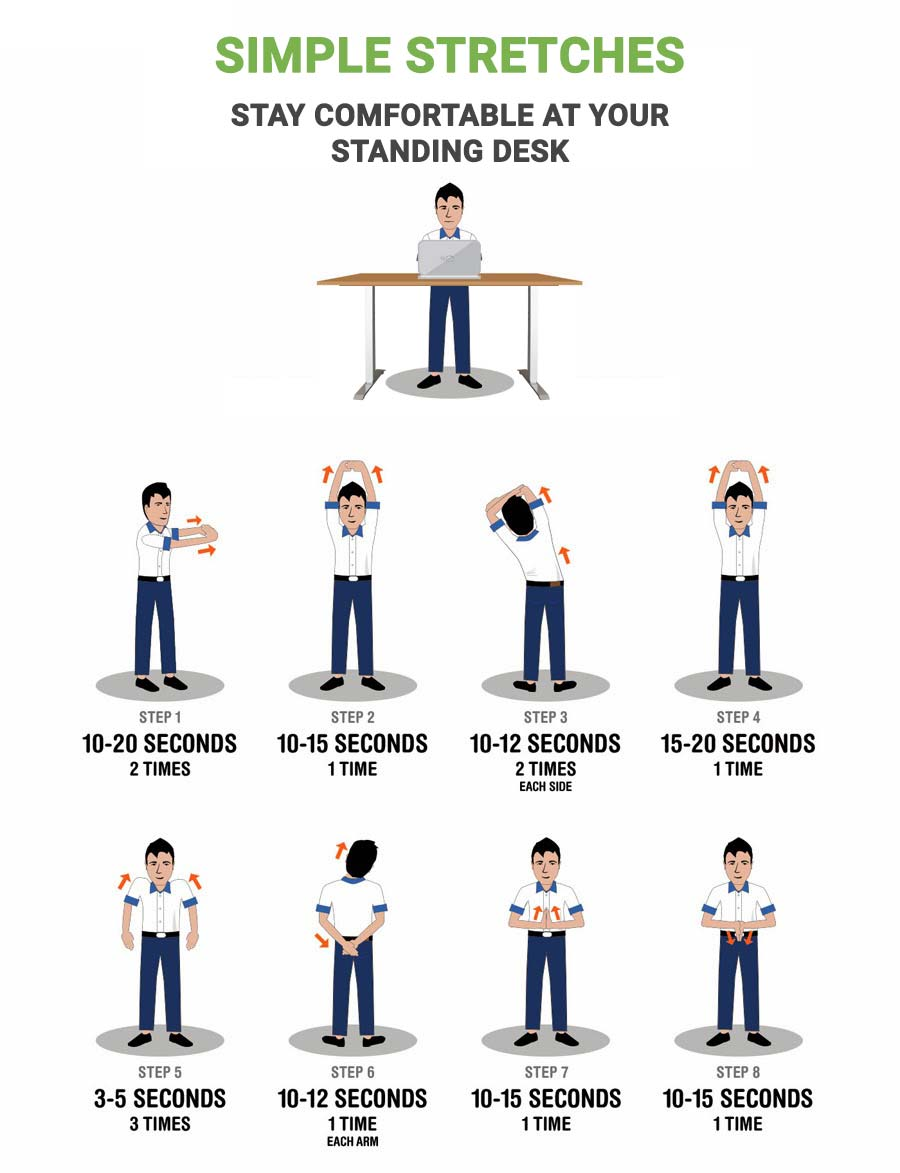 Standing Desk Simple Stretches Mulablecom