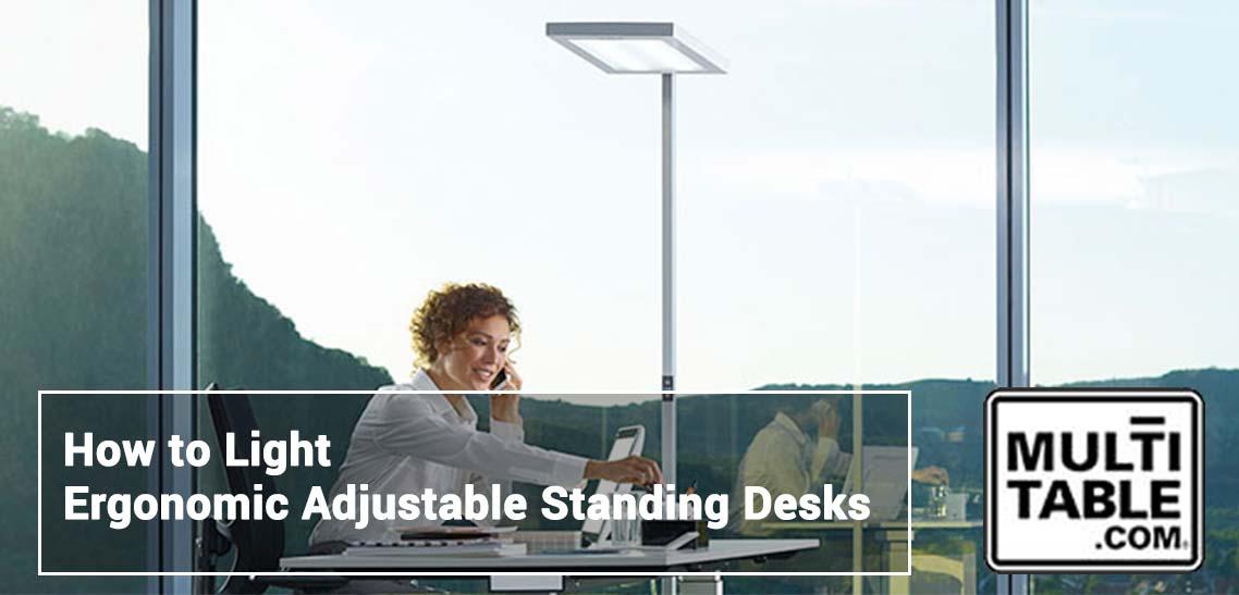 Lighting Ergonomic Adjustable Standing Desks MultiTable Standing Desk Experts