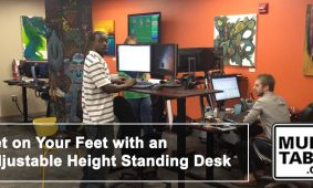Get On Your Feet With An Adjustable Height Standing Desk MultiTable