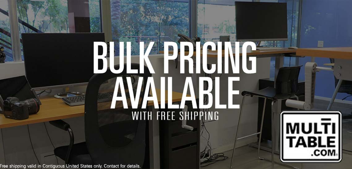 How To Convince Your Boss You Need A Standing Desk MultiTable Standing Desk Bulk Discount Pricing