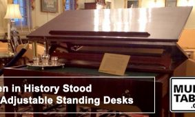 Men In History Stood At Standing Desks MultiTable
