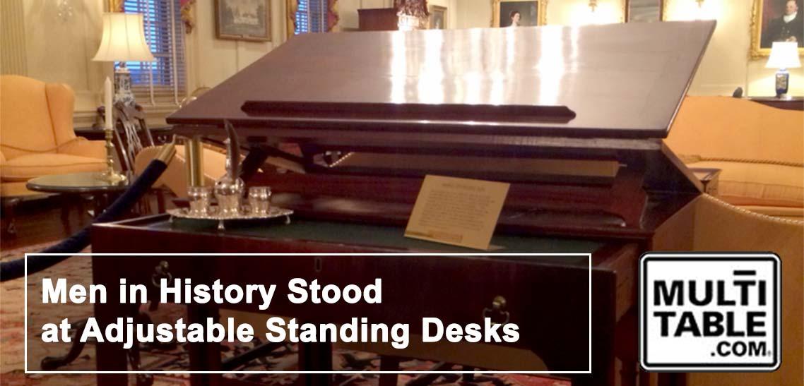 Men In History Stood At Standing Desks MultiTable