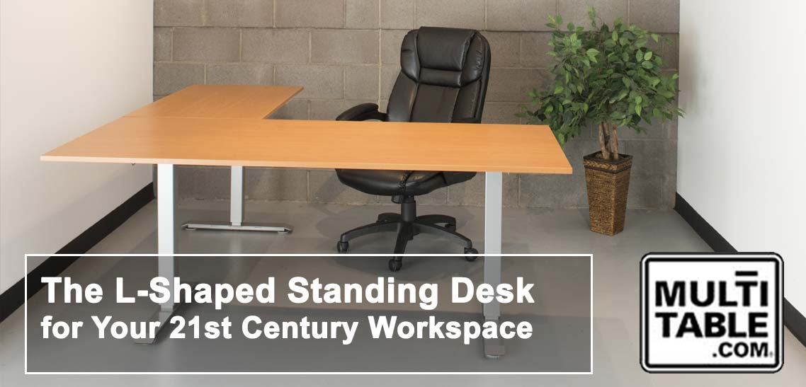 The L Shaped Standing Desk For Your 21st Century Workspace MultiTable Sit Stand L Shaped Desks