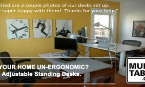 Is Your Home UnErgonomic Try Adjustable Standing Desks MultiTable