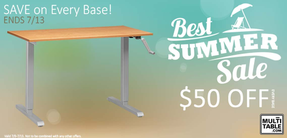 Standing Desk Best Summer Sale 2014 MultiTable