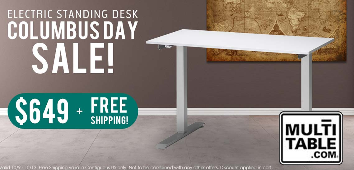 Electric Standing Desk Columbus Day Sale 2014