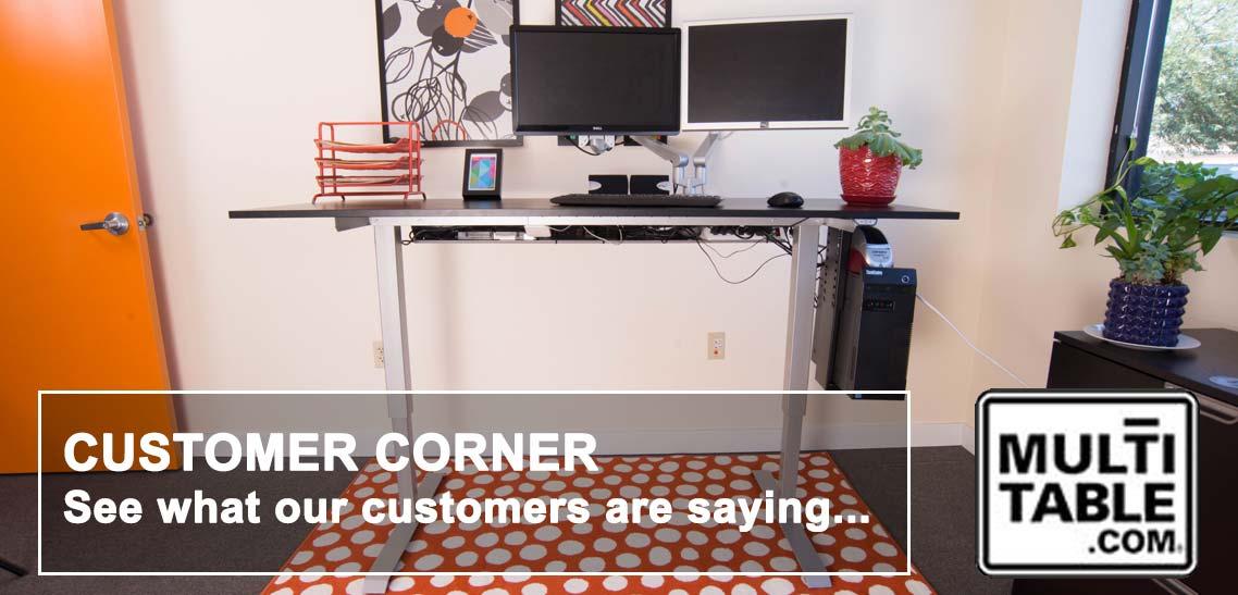Standing Desk Height Adjustable Desks Customer Reviews MultiTable