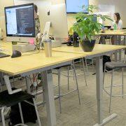 Manual Standing Desk Base Silver MultiTable 2