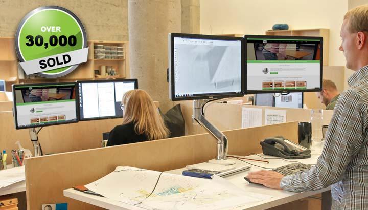 Dual Monitor Arm Standing Desk Accessories MultiTable