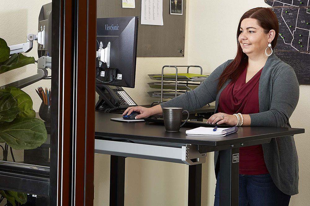 Height Adjustable Standing Desk Benefits MultiTable 3