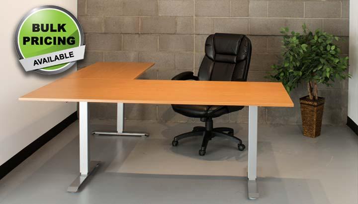 Standing Desk Electric L Shape Height Adjustable Office Desk MultiTable 4