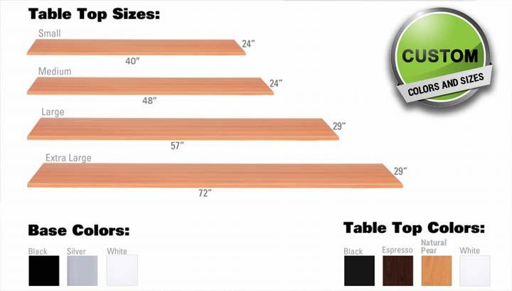 Standing Desk Manual Height Adjustable Office Desk MultiTable 2