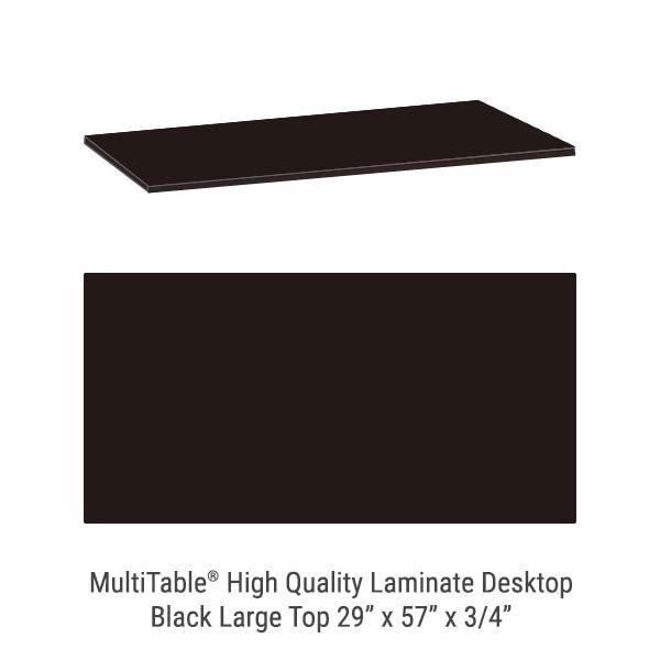 Black Large Standing Desk Top