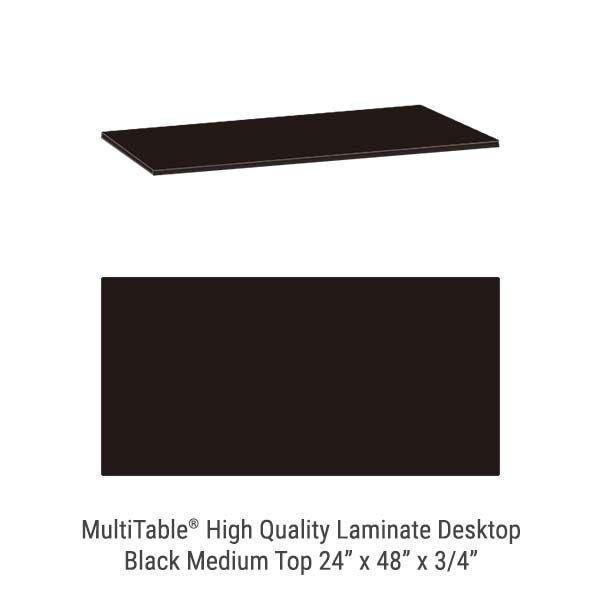 Black Medium Standing Desk Top