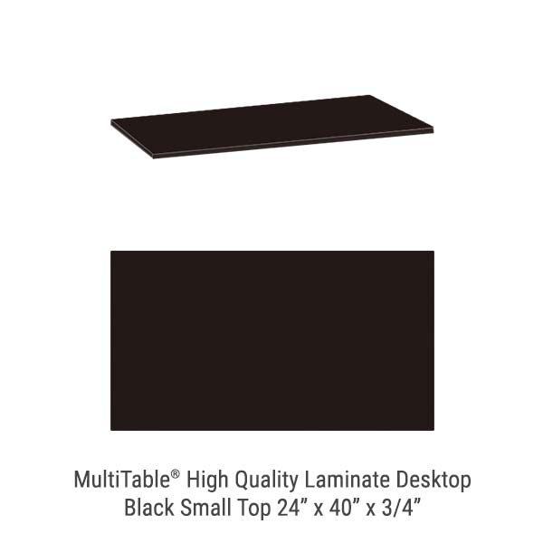 Black Small Standing Desk Top