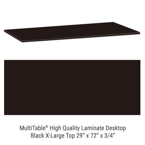 Black X Large Standing Desk Top