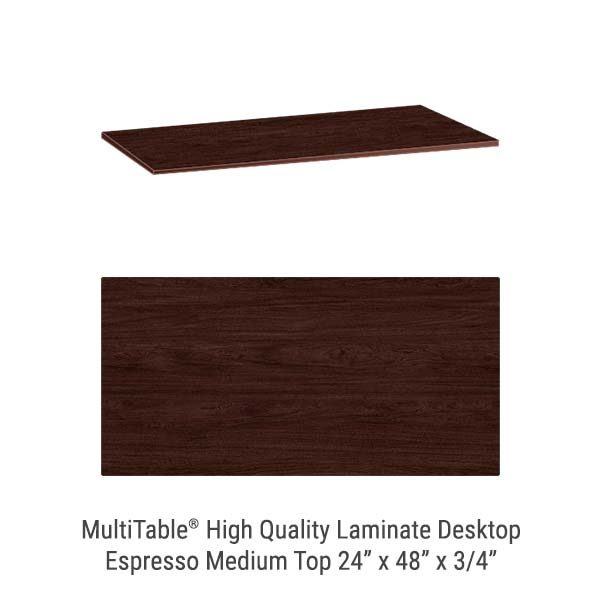 Espresso Medium Standing Desk Top
