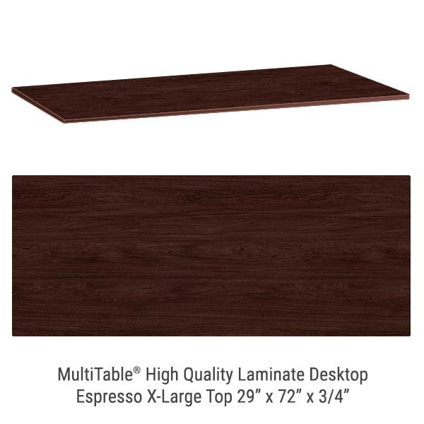 Espresso X Large Standing Desk Top