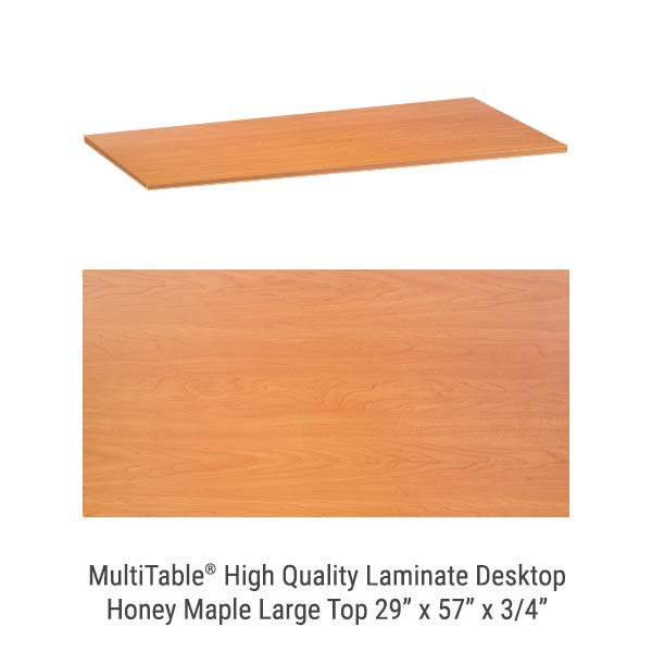 Honey Maple Large Standing Desk Top