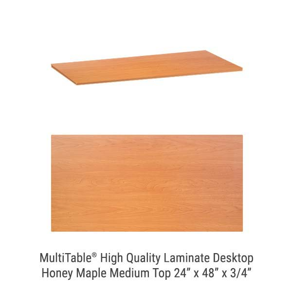 Honey Maple Medium Standing Desk Top