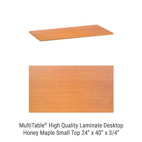 Honey Maple Small Standing Desk Top