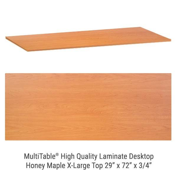 Honey Maple X Large Standing Desk Top