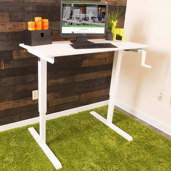Manual Standing Desk Base White MultiTable 2