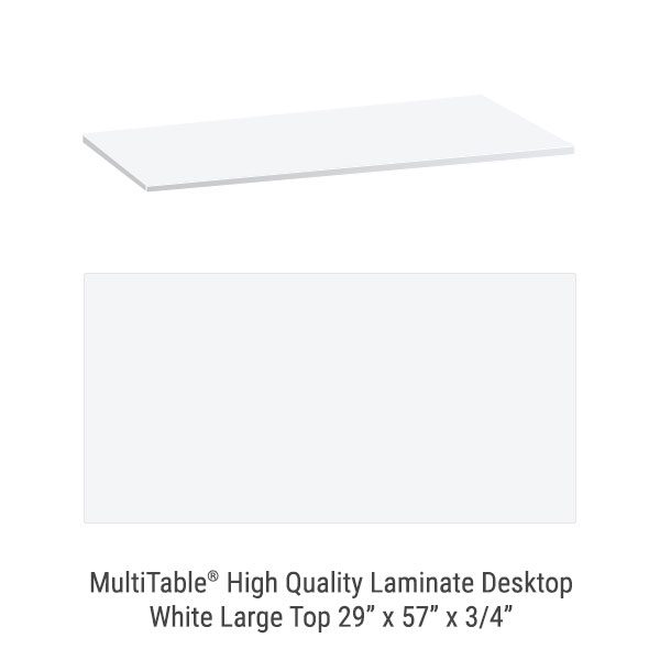 White Large Standing Desk To