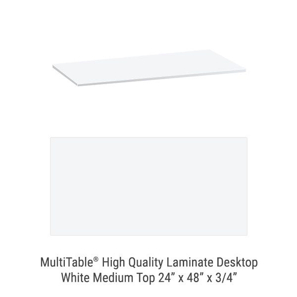 White Medium Standing Desk To