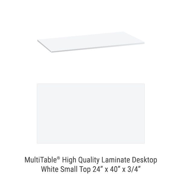 White Small Standing Desk To