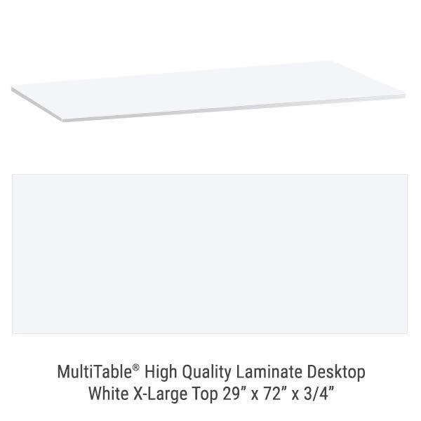 White X Large Standing Desk To
