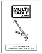 Dual Monitor Arm Assembly