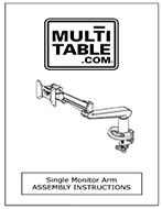 Single Monitor Arm Assembly