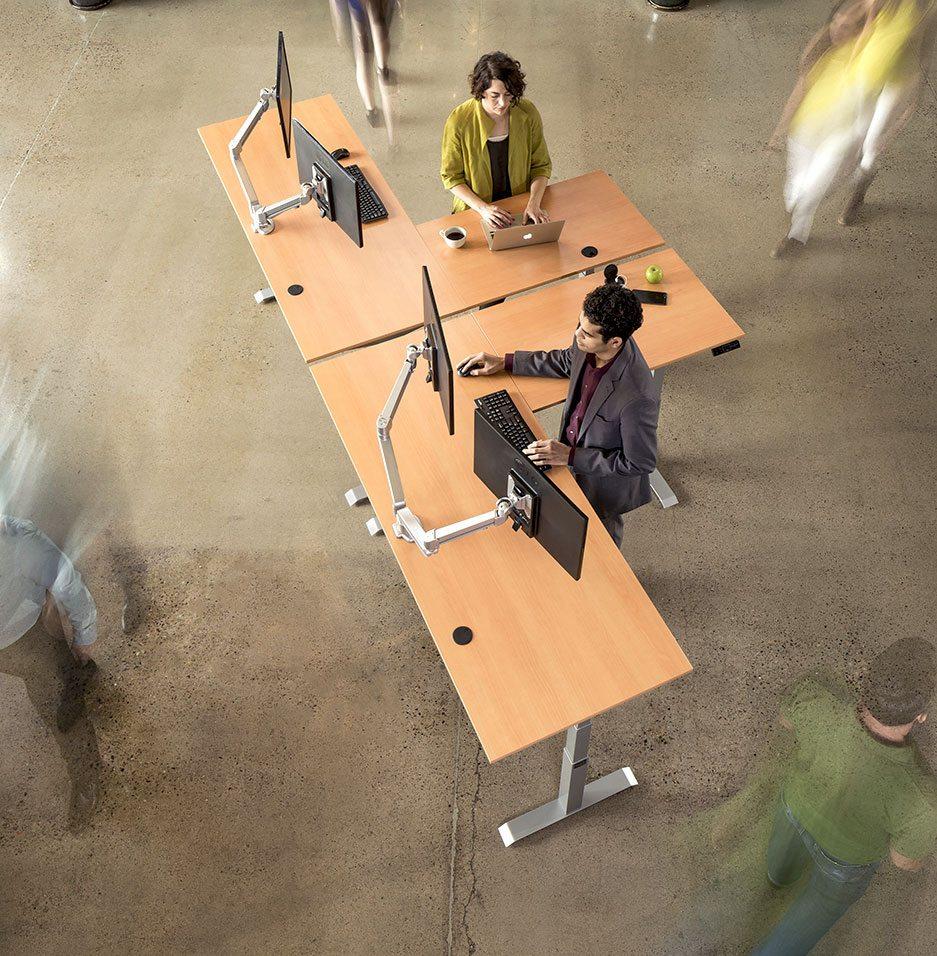 L Shaped Corner Standing Desk
