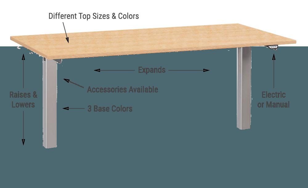 Standing Desk Adjustable Height Office Desk MultiTable