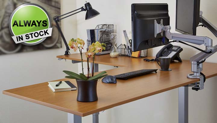 Standing Desk Adjustable Electric L Shape Multitable