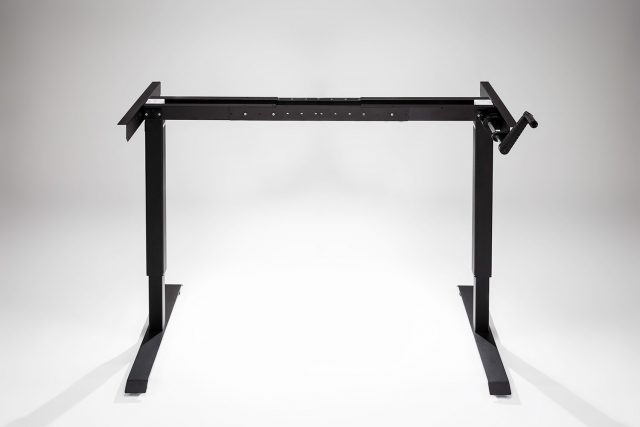 Hand Crank Standing Desk Black Frame