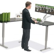 L Shaped Standing Desk Black L 1 Multitable