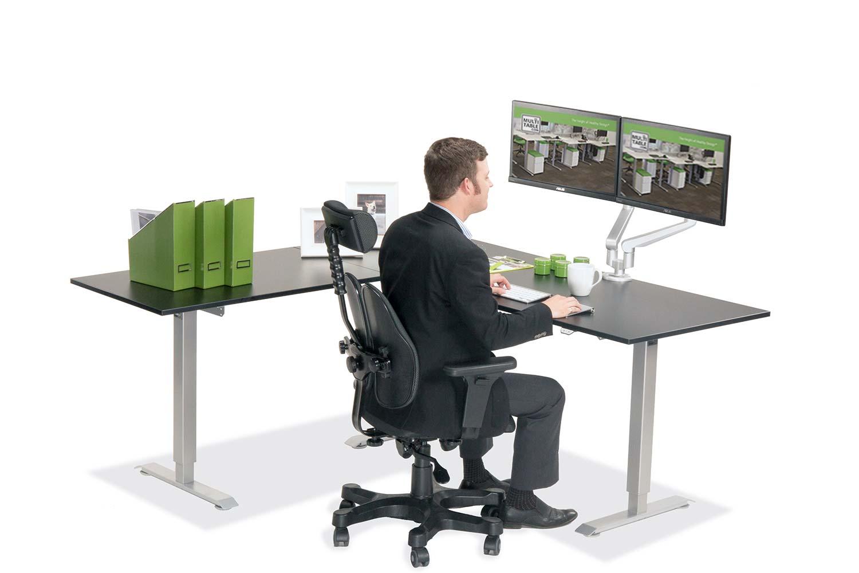 L Shaped Standing Desk Black L 2 Multitable