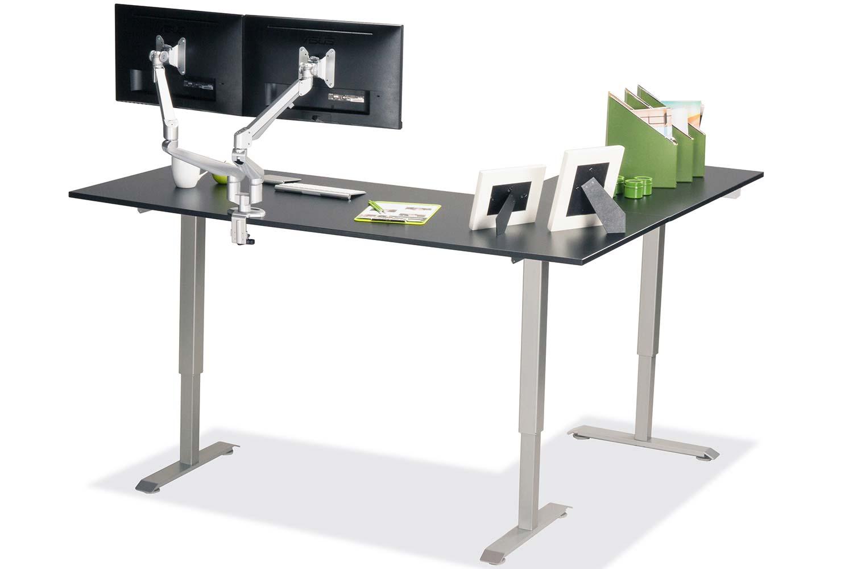 L Shaped Standing Desk Black L 3 Multitable