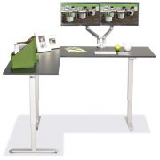 L Shaped Standing Desk Black L 4 Multitable