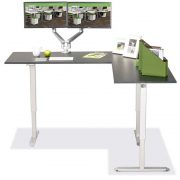 L Shaped Standing Desk Black R 4 Multitable