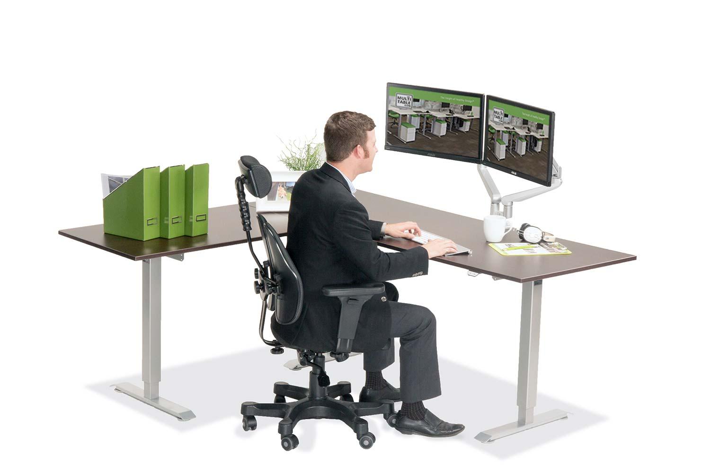 L Shaped Standing Desk Espresso L 2 Multitable