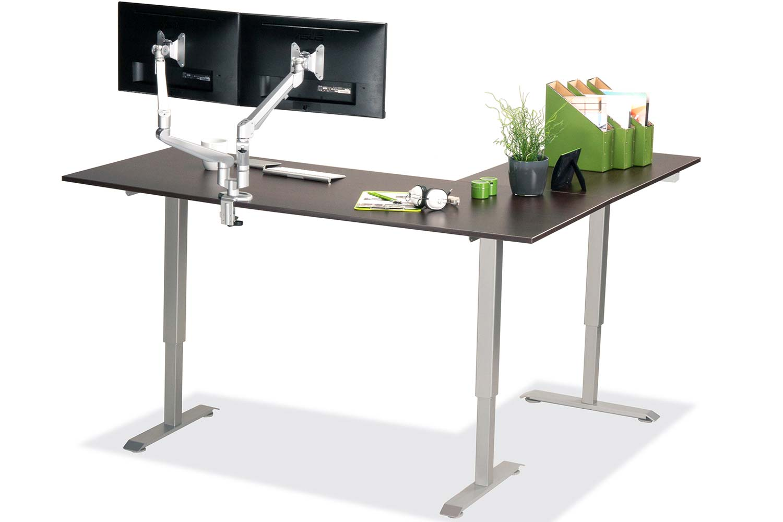 L Shaped Standing Desk Espresso L 3 Multitable