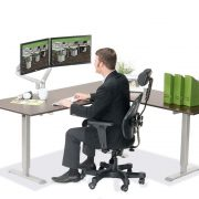 L Shaped Standing Desk Espresso R 2 Multitable