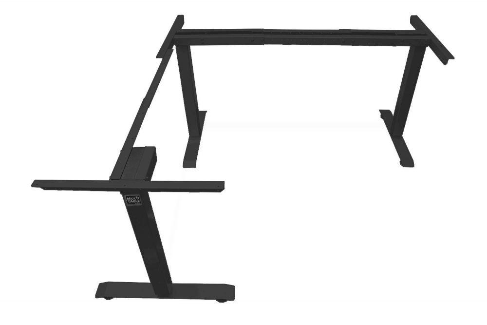 L Shaped Standing Desk Frame Black Return Left